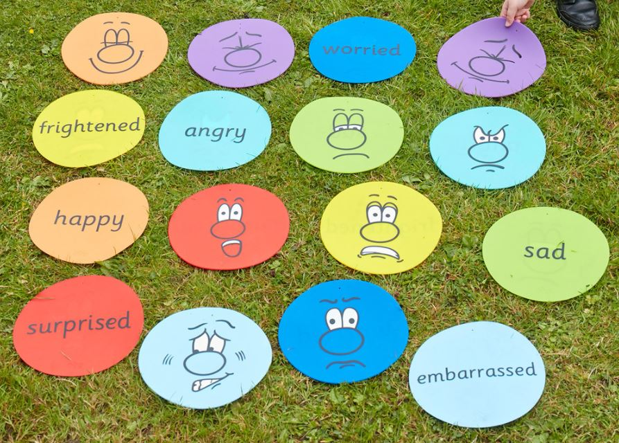 Emotion Throw Down Spots - Activity for Wellbeing